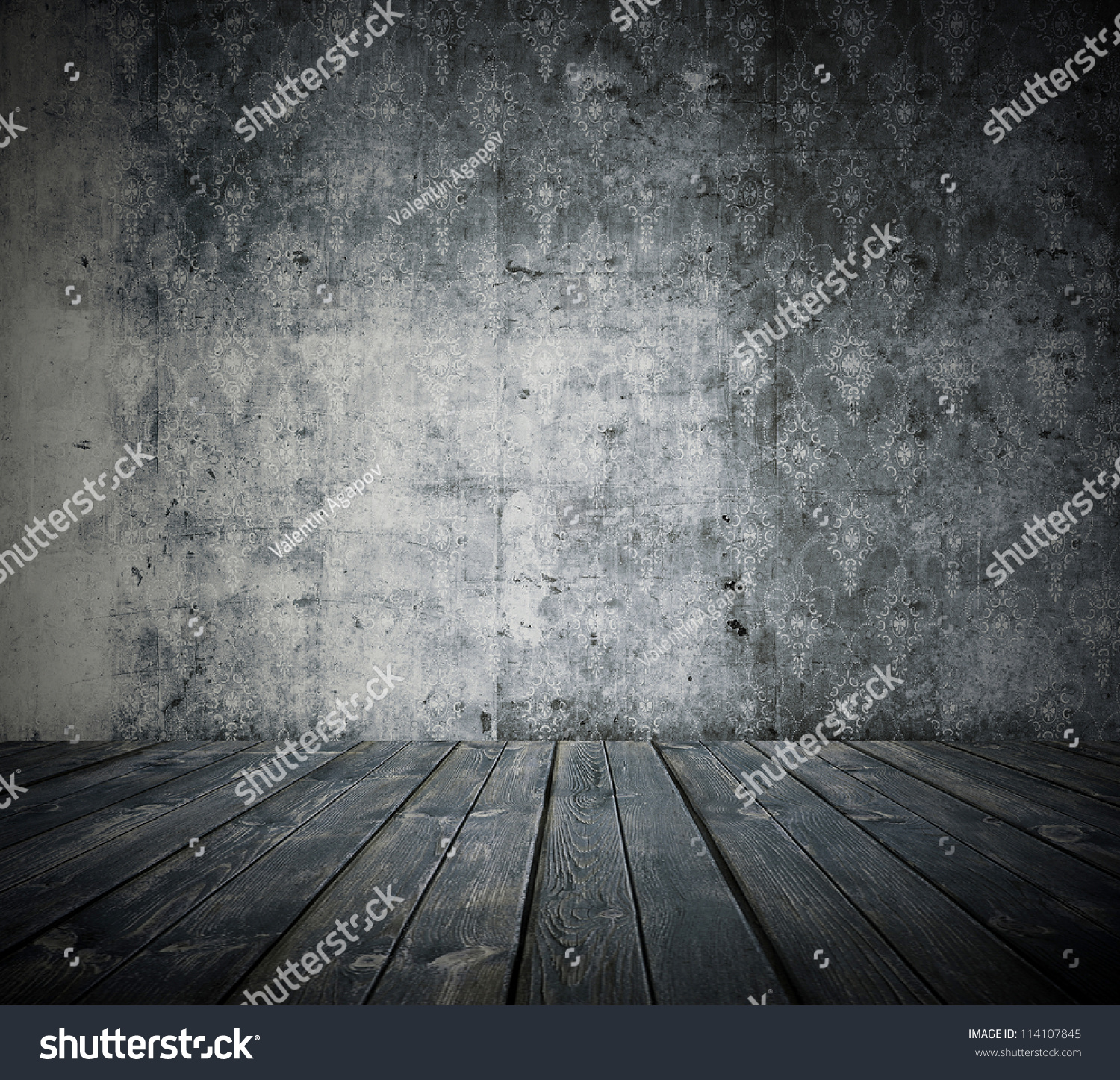 Old Grunge Room Black White Retro Stock Photo 114107845