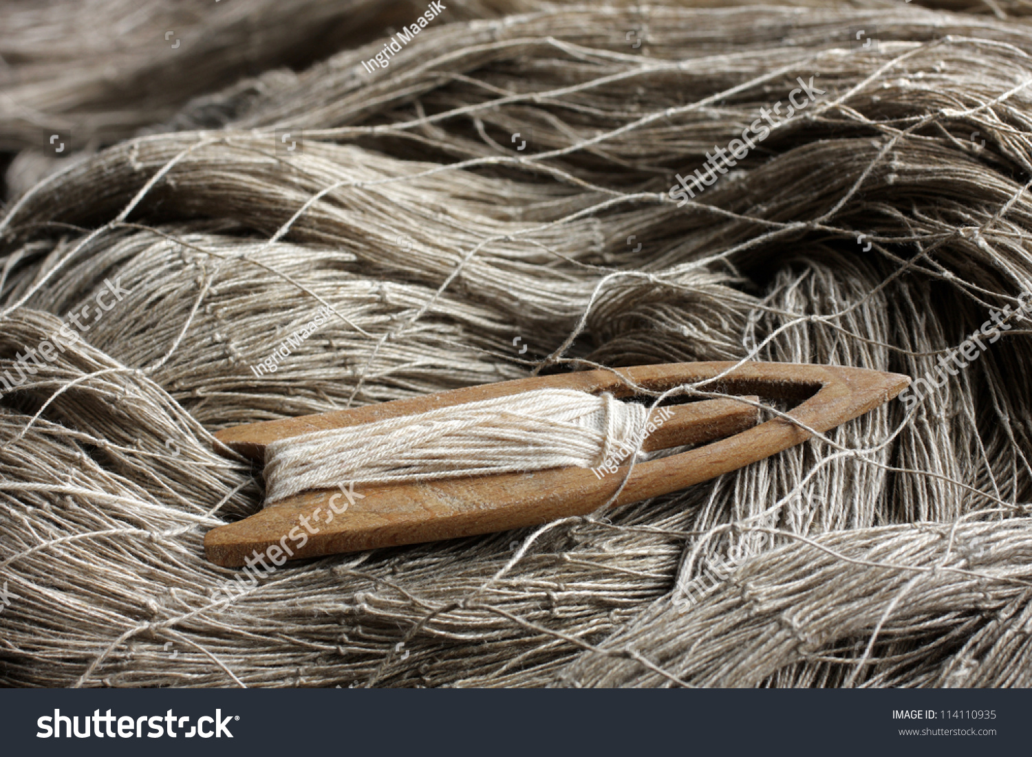Old wooden fishing net needle stock photo 114110935 for Wooden fishing net