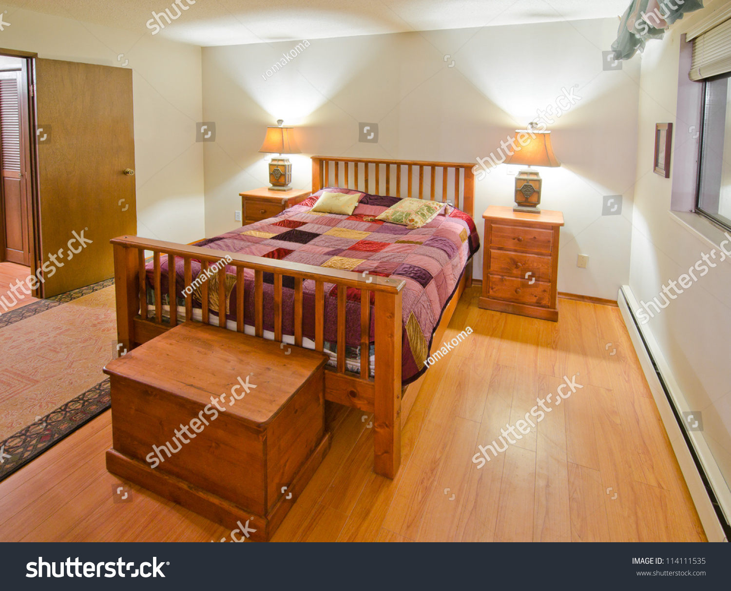 Nice Looking Bedroom Interior Design Stock Photo