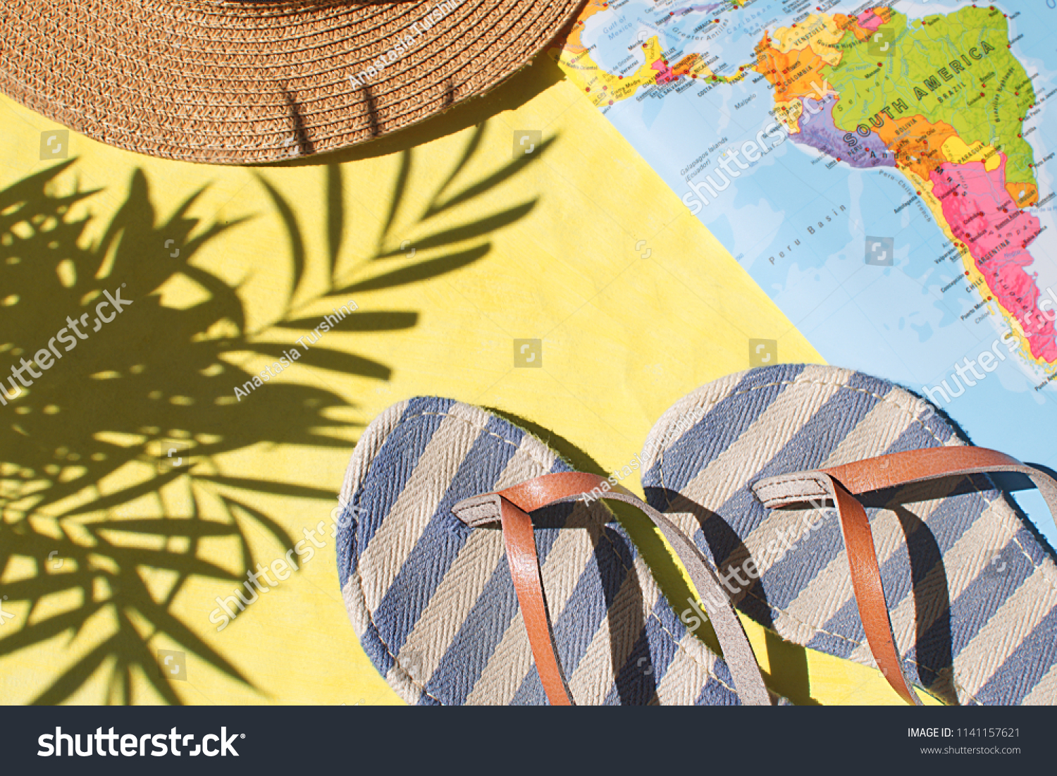 Summer Season Travel Concept Holiday Adventure Stock Photo (Edit Now