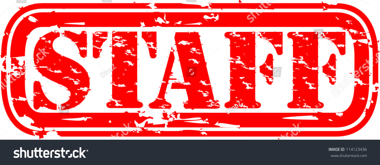 grunge staff ruber stamp vector illustration stock vector