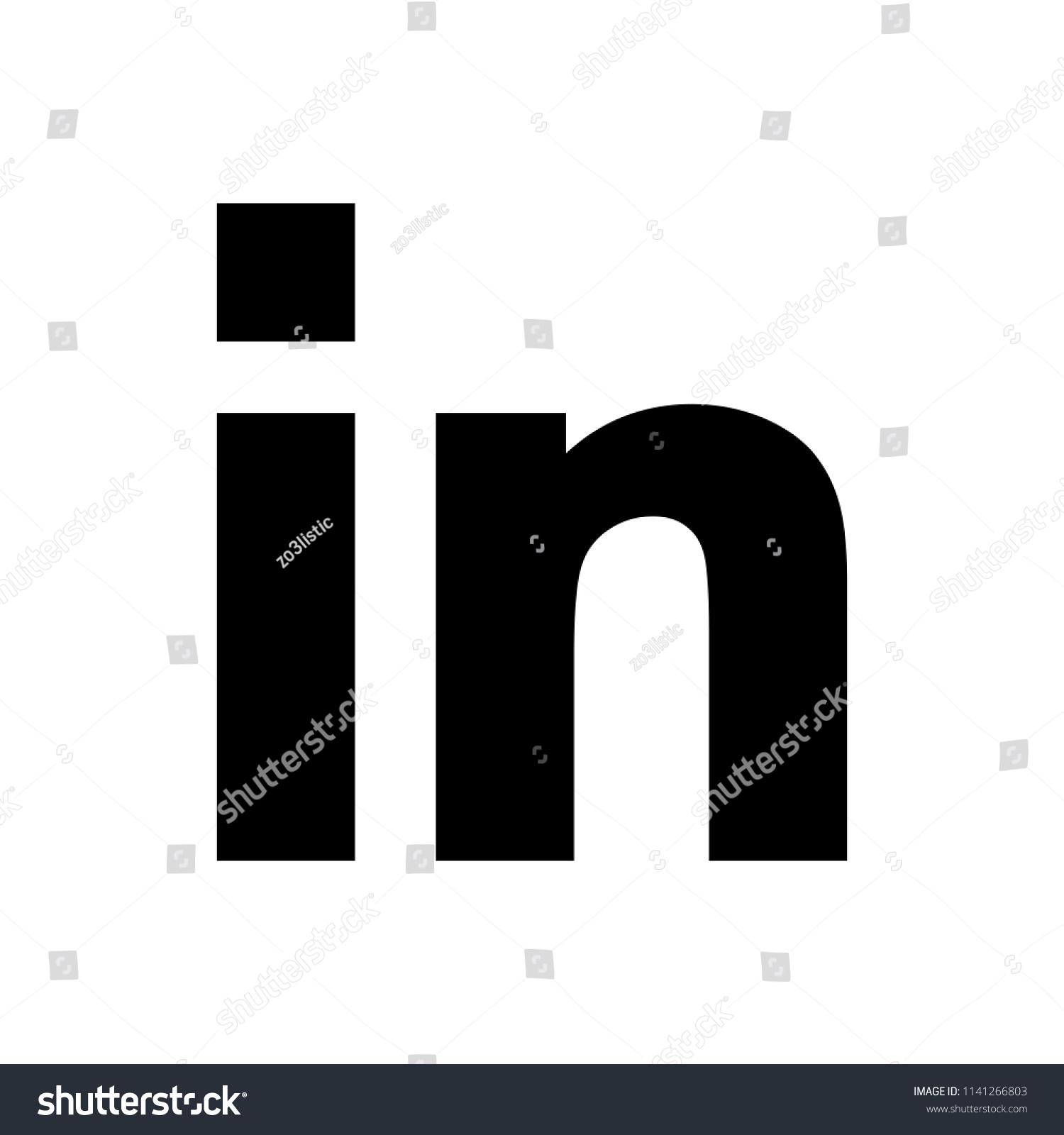 Social Media Symbol Linkedin Logo Linkedin Stock Vector Royalty