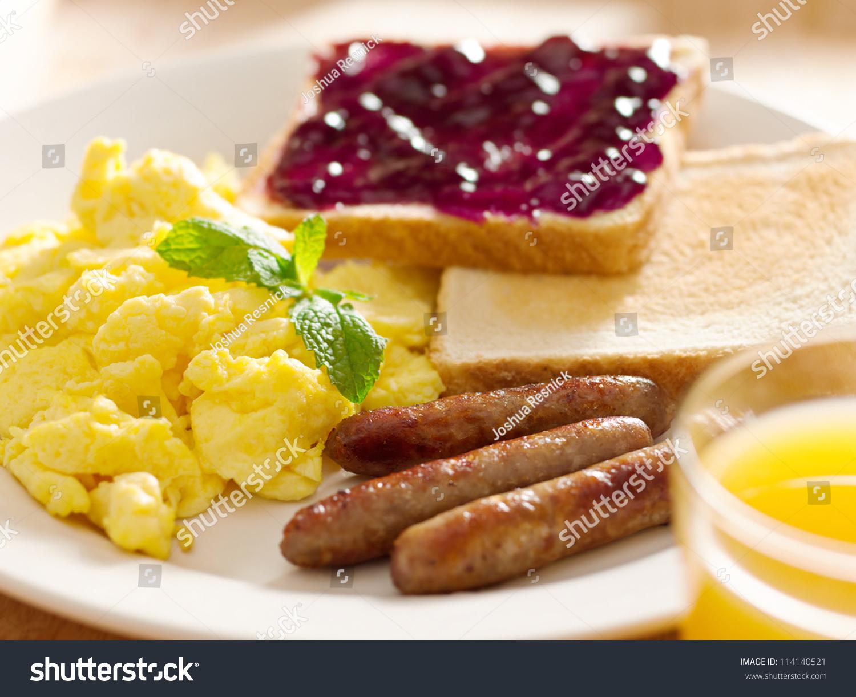 Breakfast food american style breakfast scrambled stock for American style cuisine