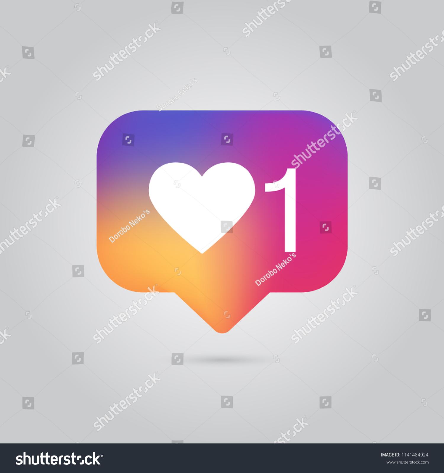 Social Media Notification Like Comment Follower Stock Vector