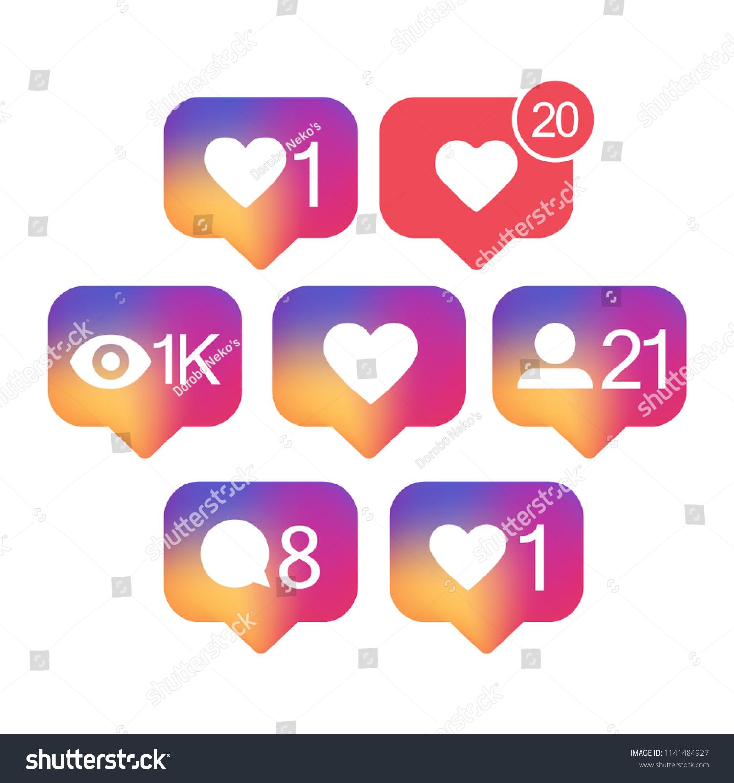 Notification Counter Icon Vector Social Media Stock Vector Royalty
