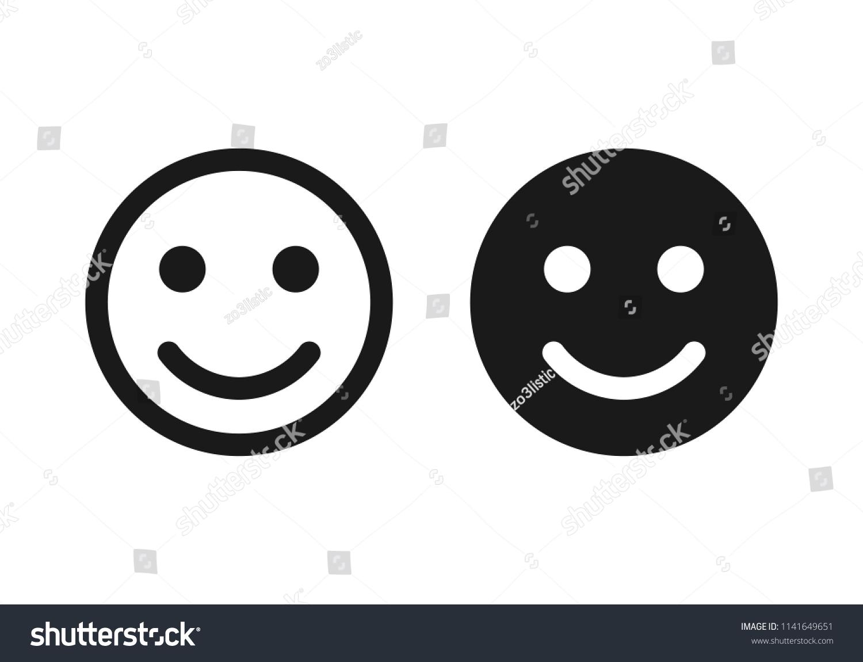 Smile Icon Happy Face Symbol Smile Icon Stock Vector Royalty Free