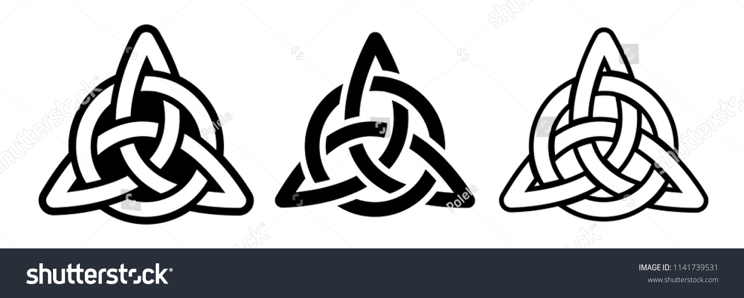 Laser Cutting Template Celtic Trinity Knot Stock Vector Royalty