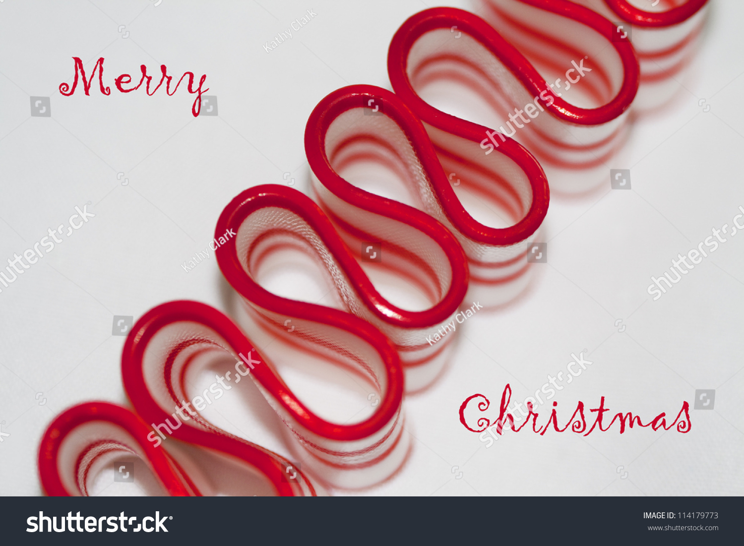 Old Fashioned Merry Christmas Ribbon Candy Merry Stock Photo (Edit ...