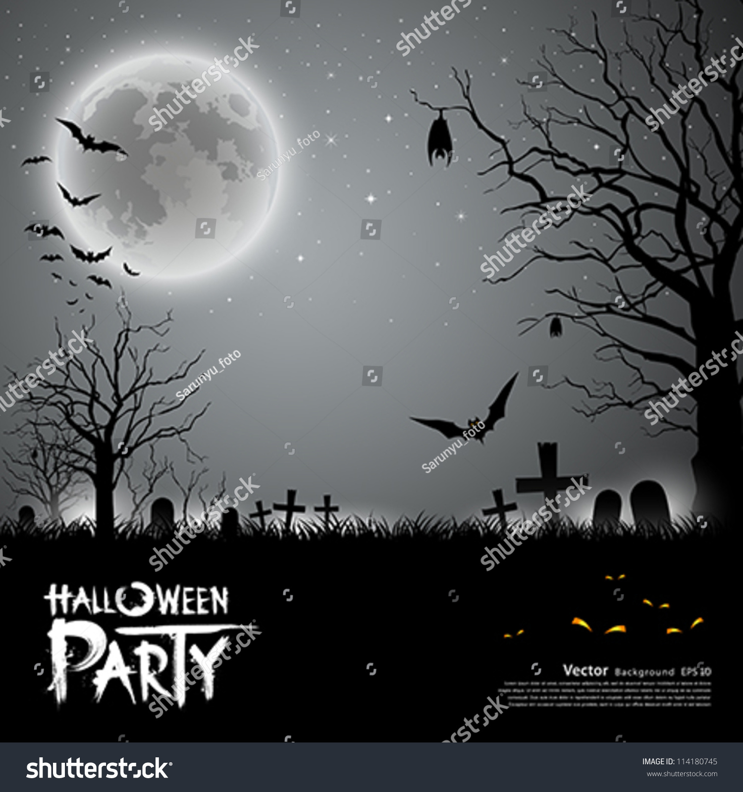 Halloween Party Scary Background Vector Illustration Stock Vector ...