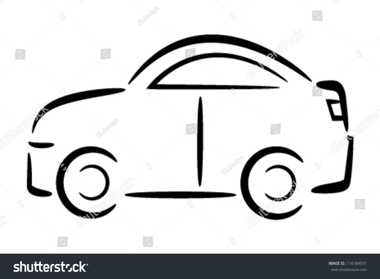 similar images stock photos vectors of car outline vector rh shutterstock com vintage car outline vector police car outline vector