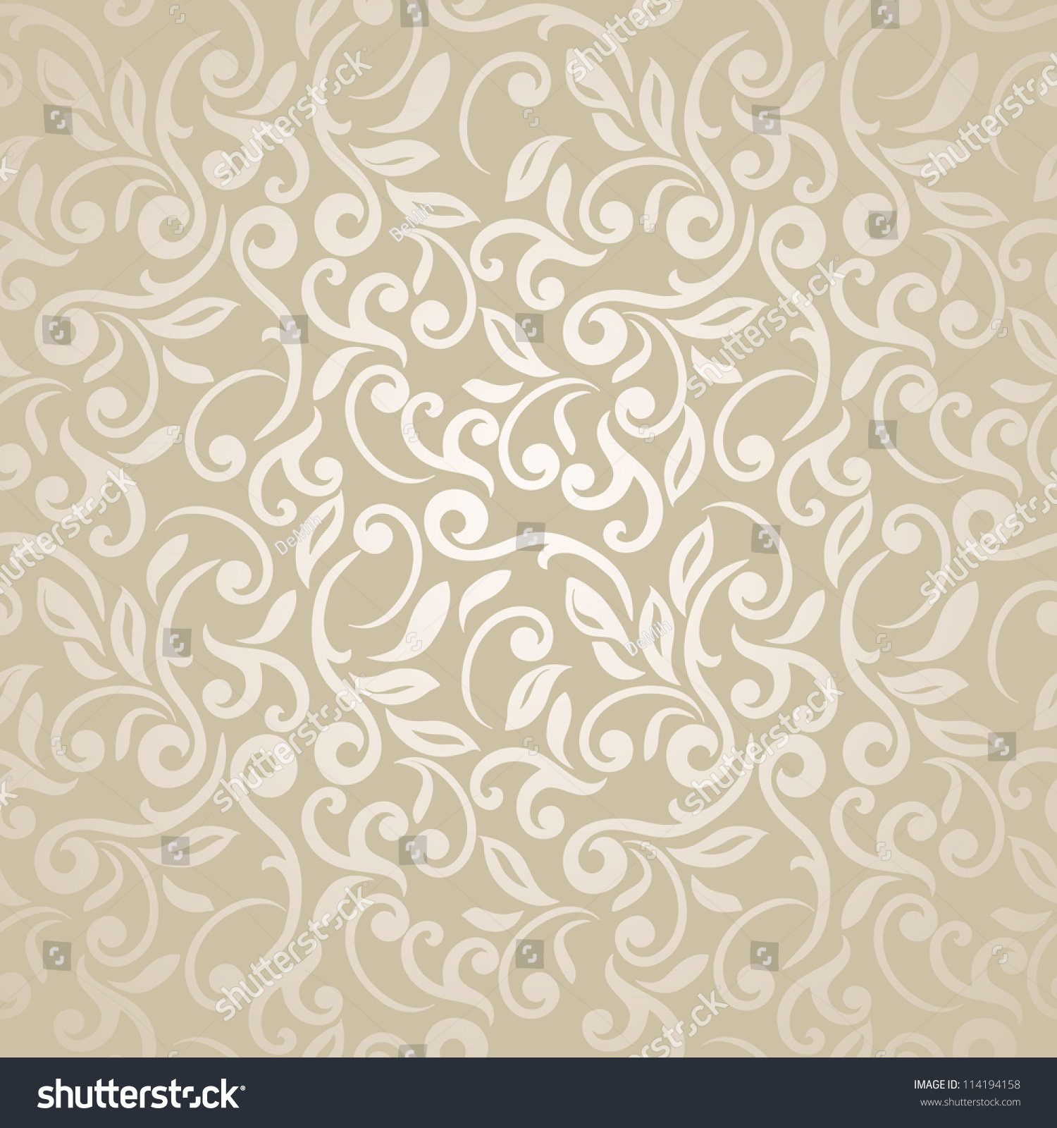 Floral Seamless Abstract Elegant Wallpaper Stock Photo
