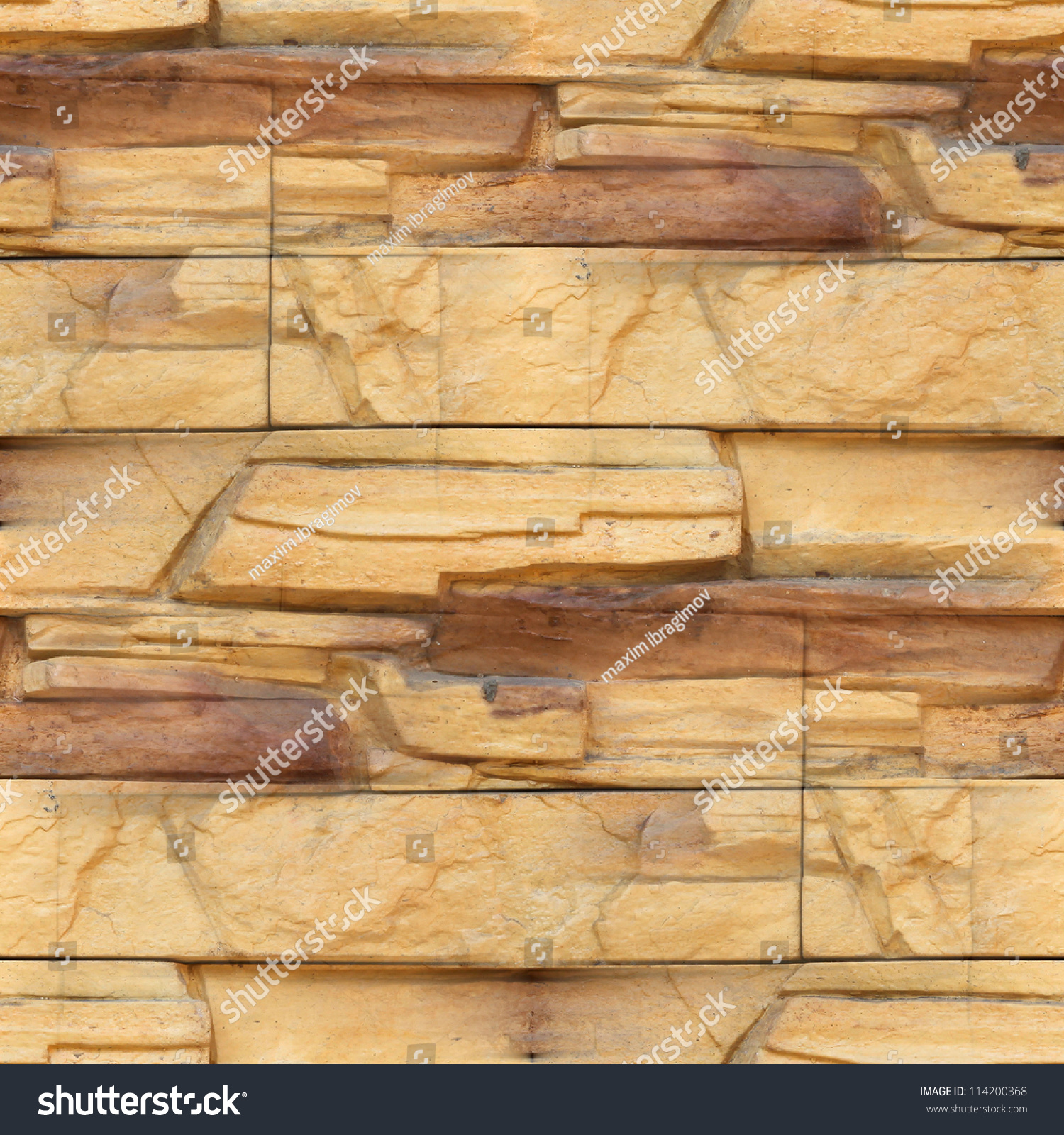Granite Floor Wallpaper Decorative Brick Wall Stock Photo (Royalty ...