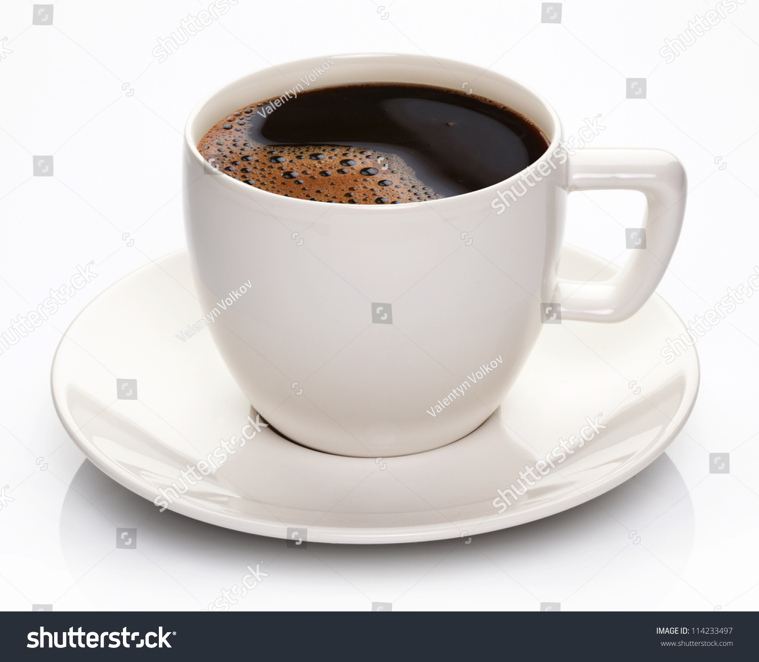 coffee cup saucer on white background stock photo 114233497 shutterstock. Black Bedroom Furniture Sets. Home Design Ideas