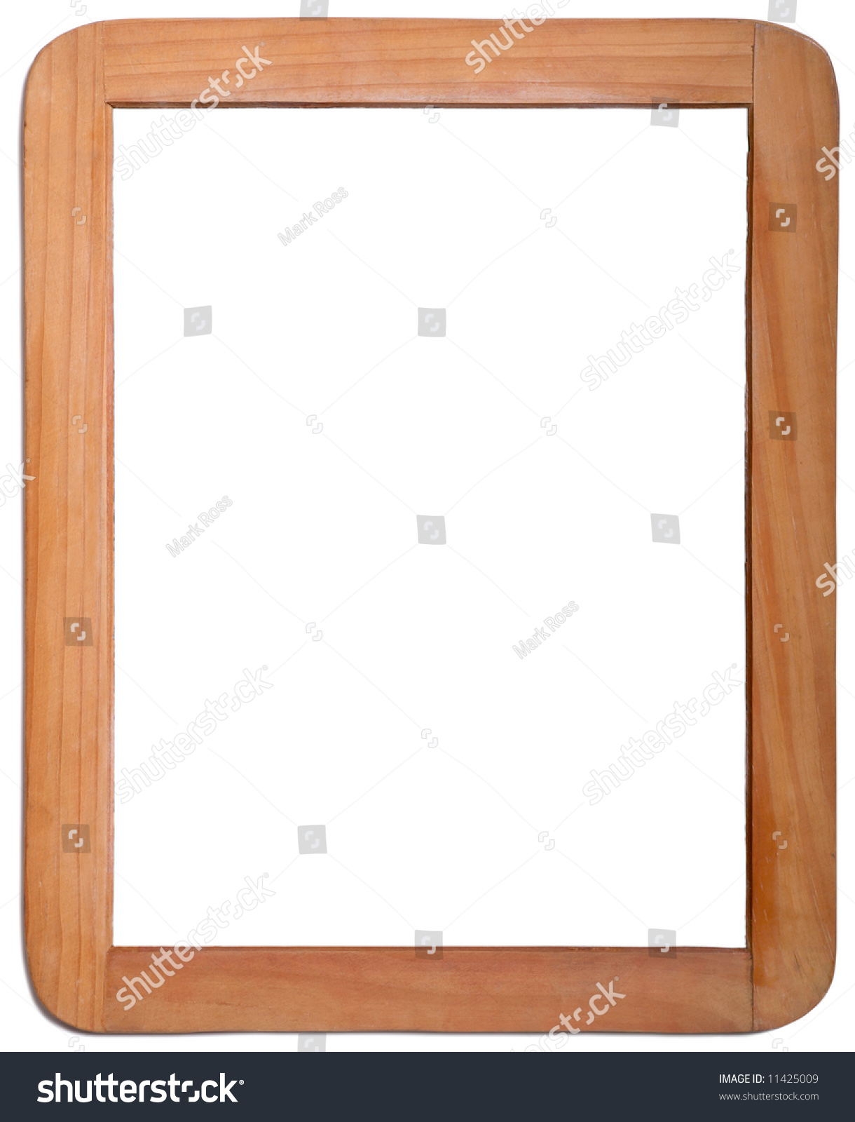Whiteboard Wooden Frame On White Background Stock Photo & Image ...