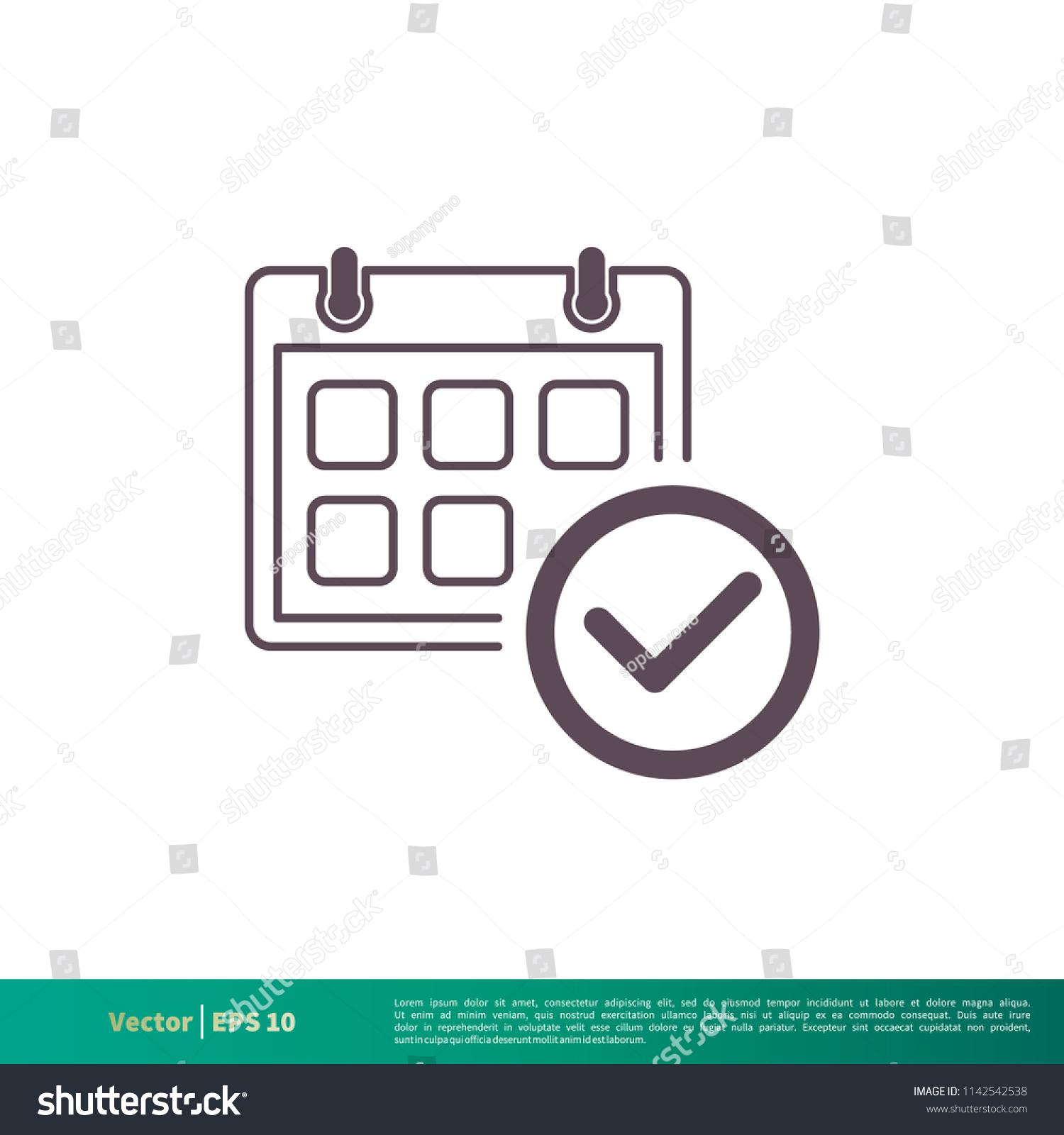 Calendar Schedule Icon Vector Logo Template Stock Vector Royalty