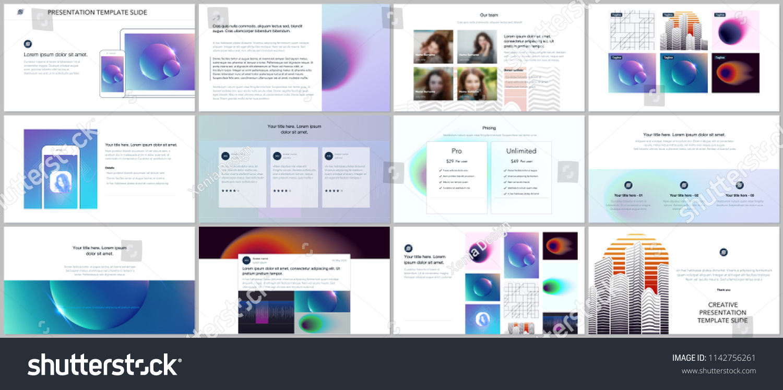 minimal presentations portfolio templates colorful gradient stock