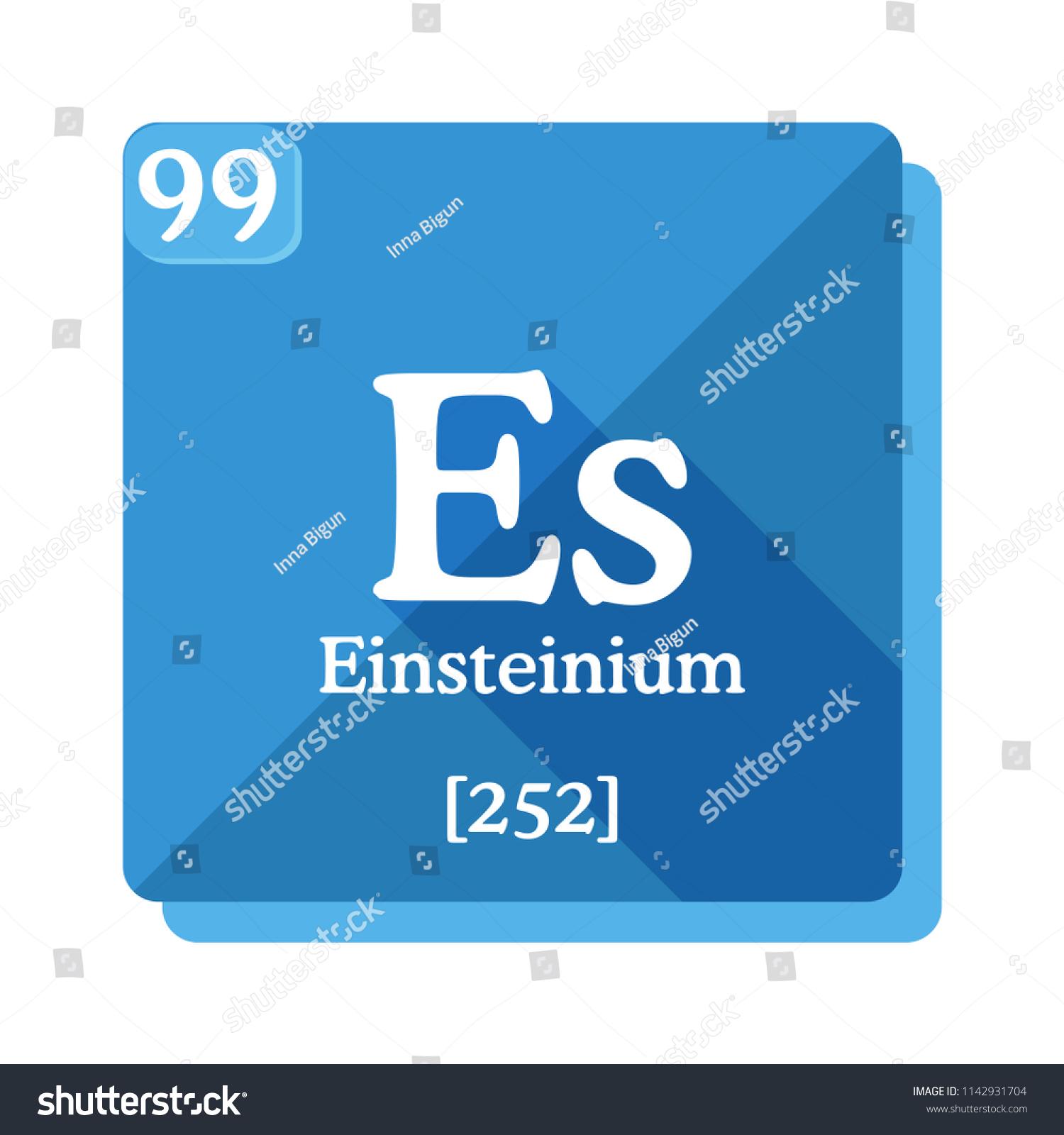 Einsteinium Es Element Periodic Table Flat Stock Vector Royalty
