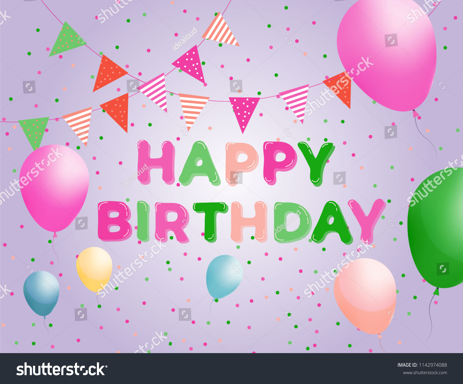 Birthday Poster Design Template from image.shutterstock.com