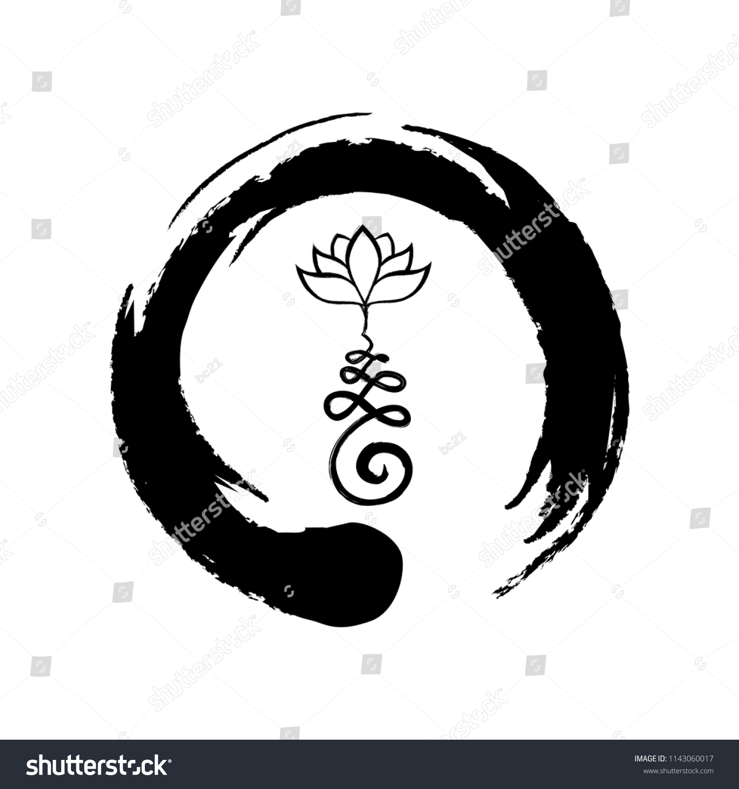 Buddhist Symbol Life Path Lotus Flower Stock Vector Royalty Free
