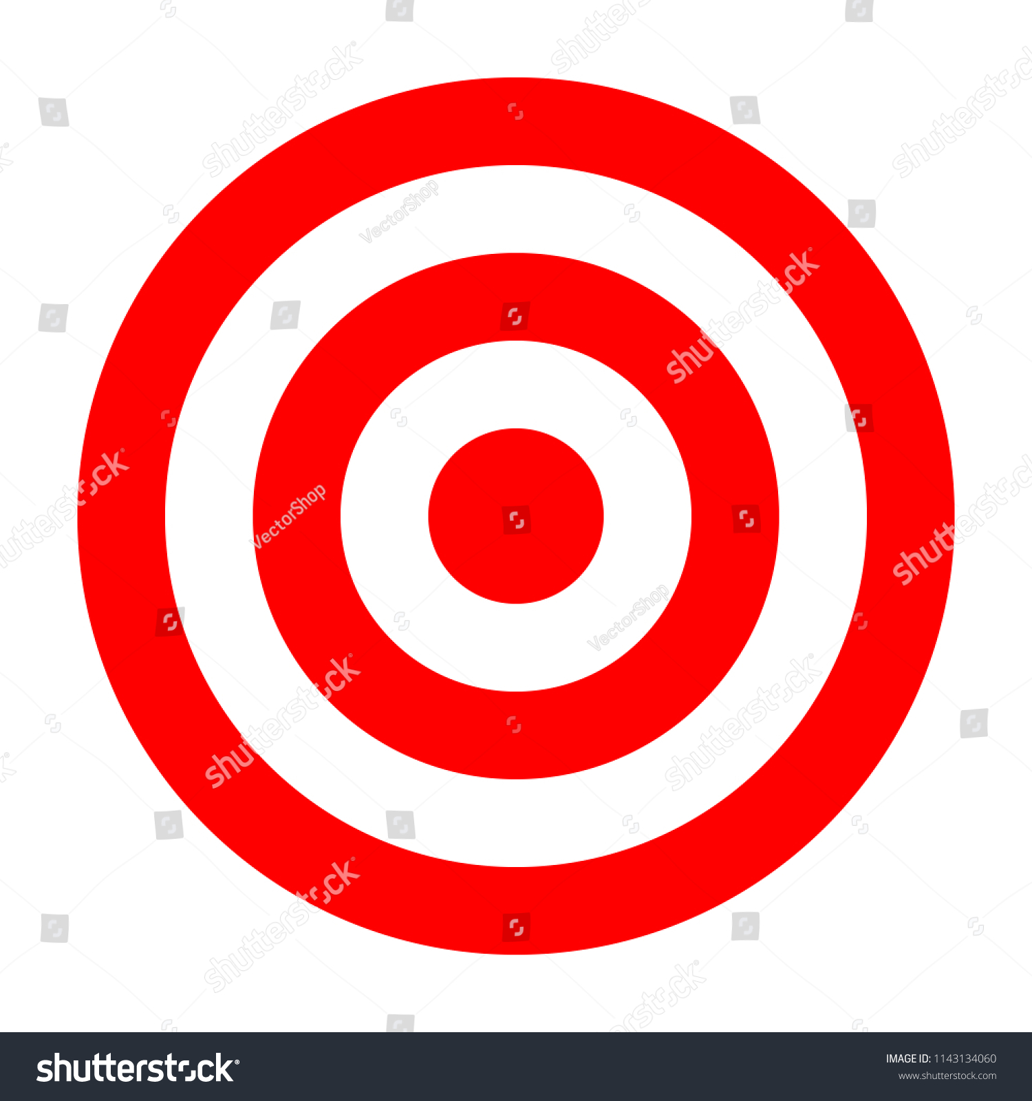 simple circle target template bullseye symbol stock vector royalty