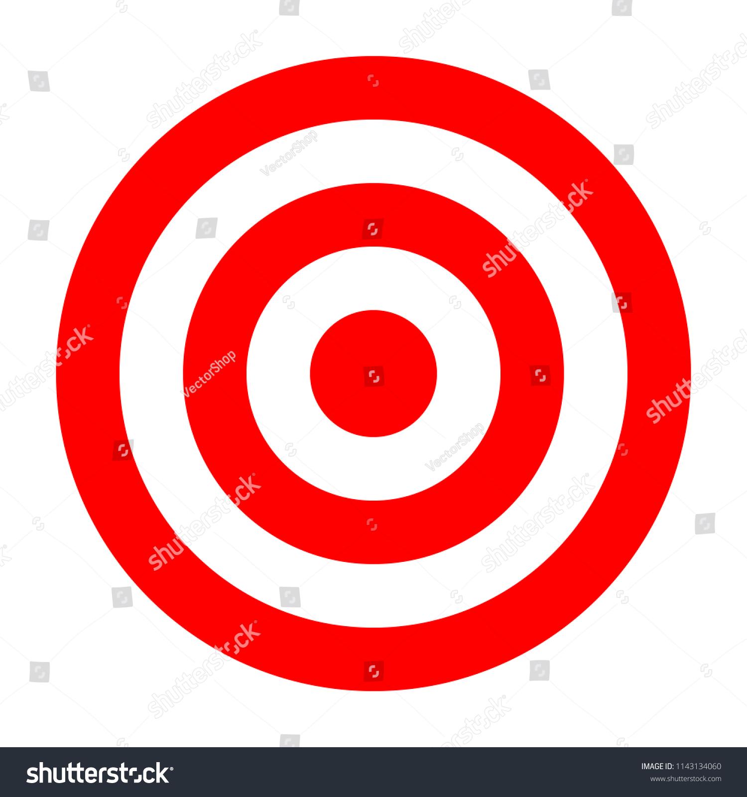 simple circle target template bullseye symbol stock vector royalty