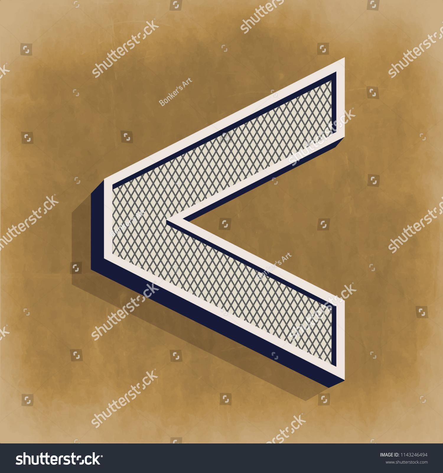 Greater Than Math Symbol Vector Illustration Stock Vector Royalty