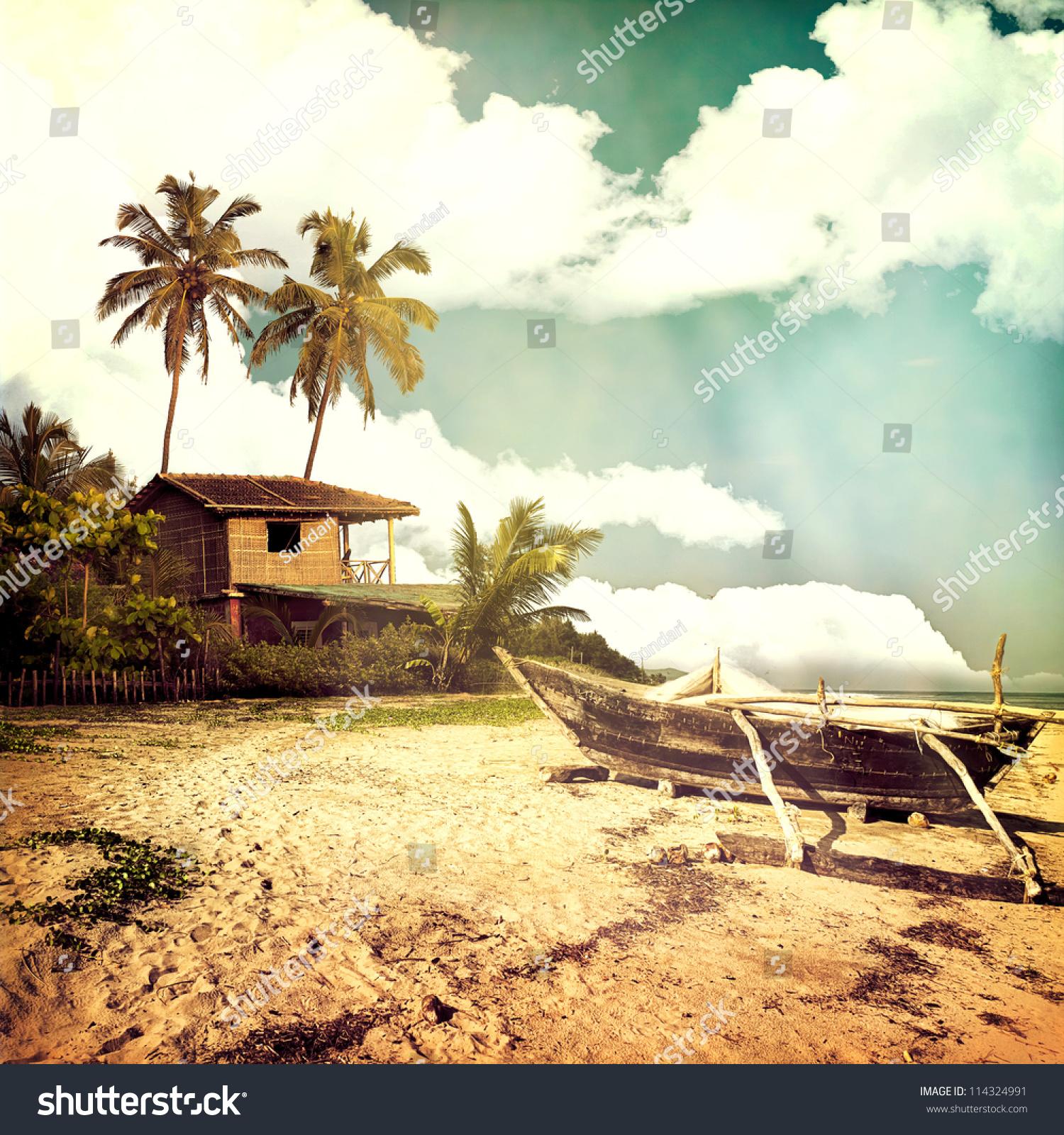 Vintage Beach Background Stock Photo 114324991 : Shutterstock