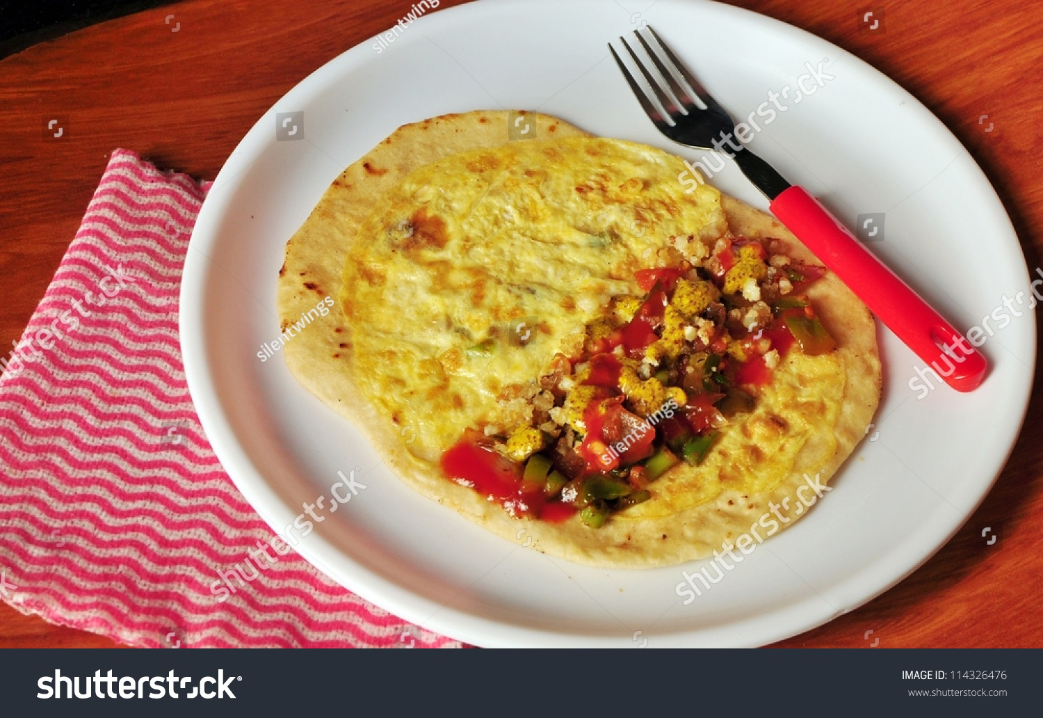 Indian Street Food Egg Roll Egg Stock Photo Edit Now 114326476