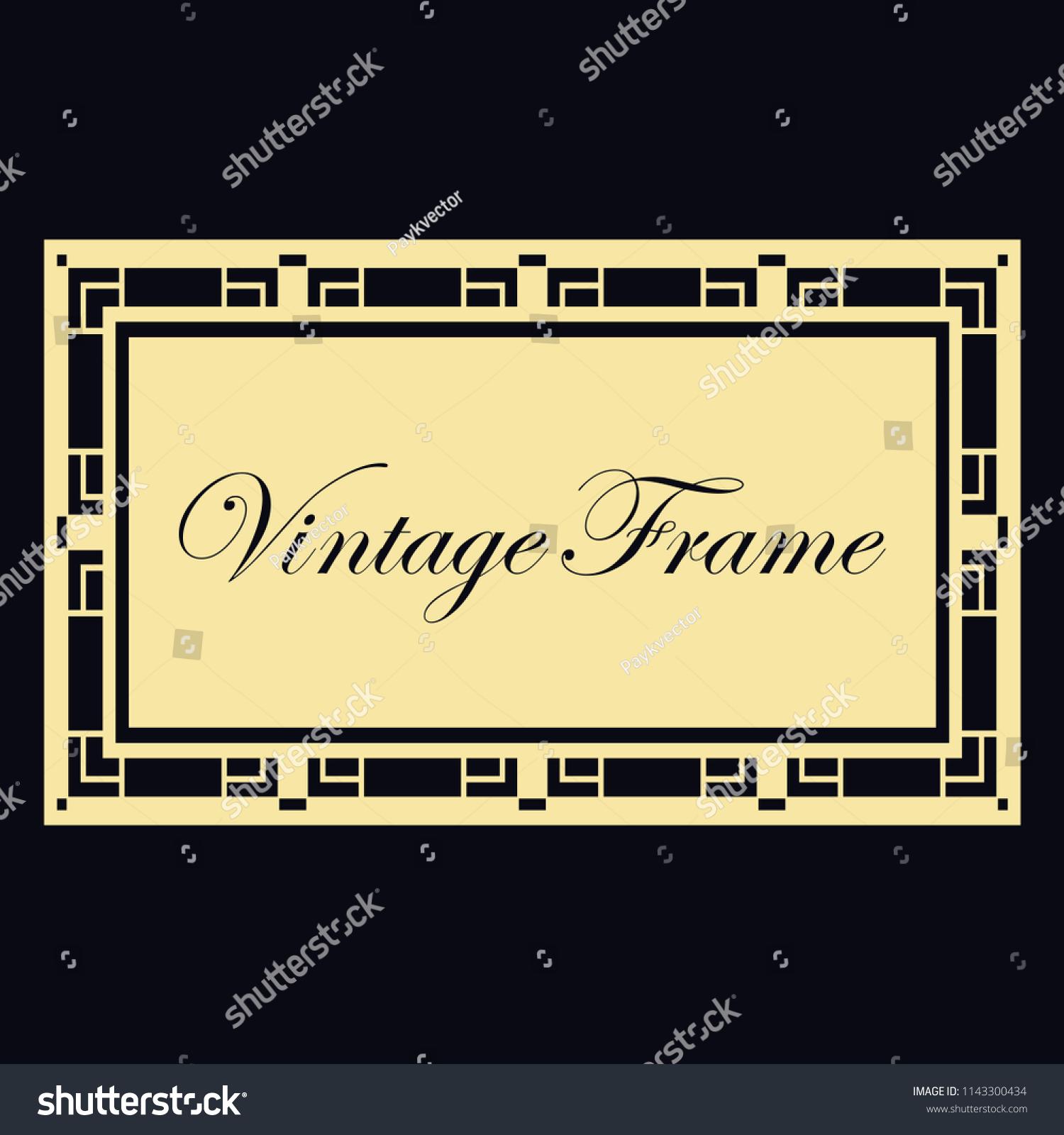 Vintage Retro Invitation Art Deco Style Stock Vector Royalty Free