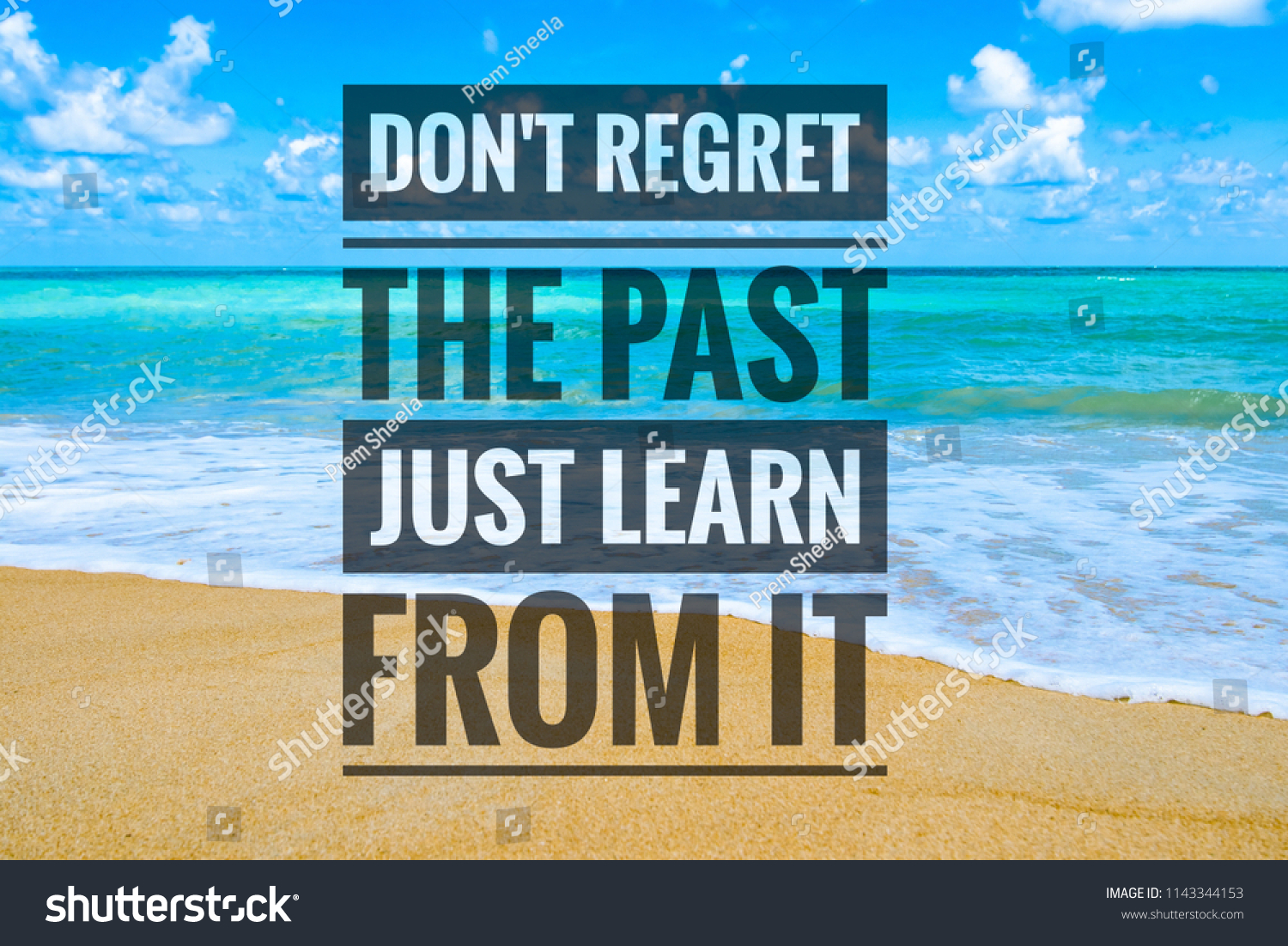 Dont Regret Past Just Learn It Stock Illustration 1143344153