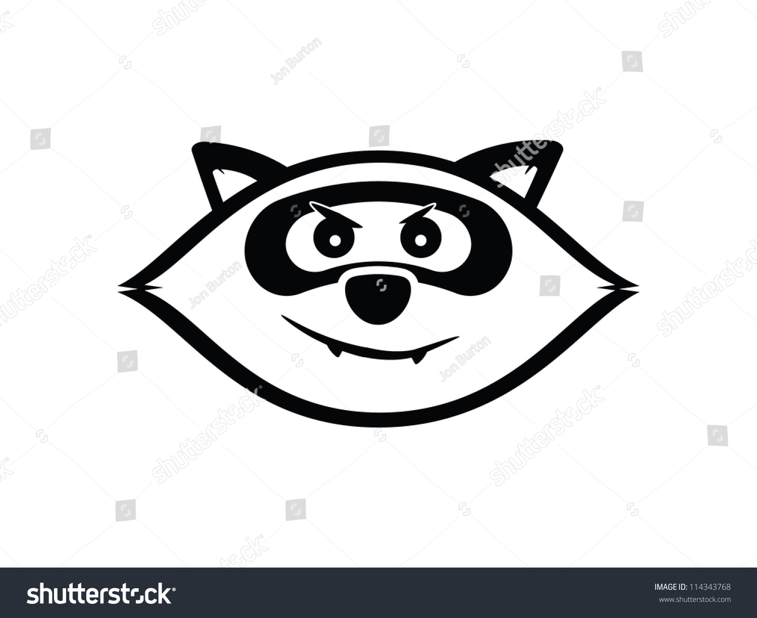 ... Black And White raccoon isolated stock vectors & vector clip art Raccoon Face Clip Art Black And White
