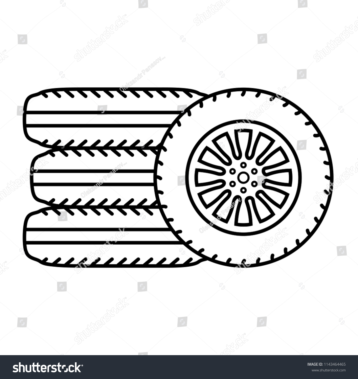Outline Of Flat Tire Wiring Diagrams Stereo Circuit Audio Amplifier 595x476 Lm386 Car Tires Vector Icon Stock Royalty Free Rh Shutterstock Com