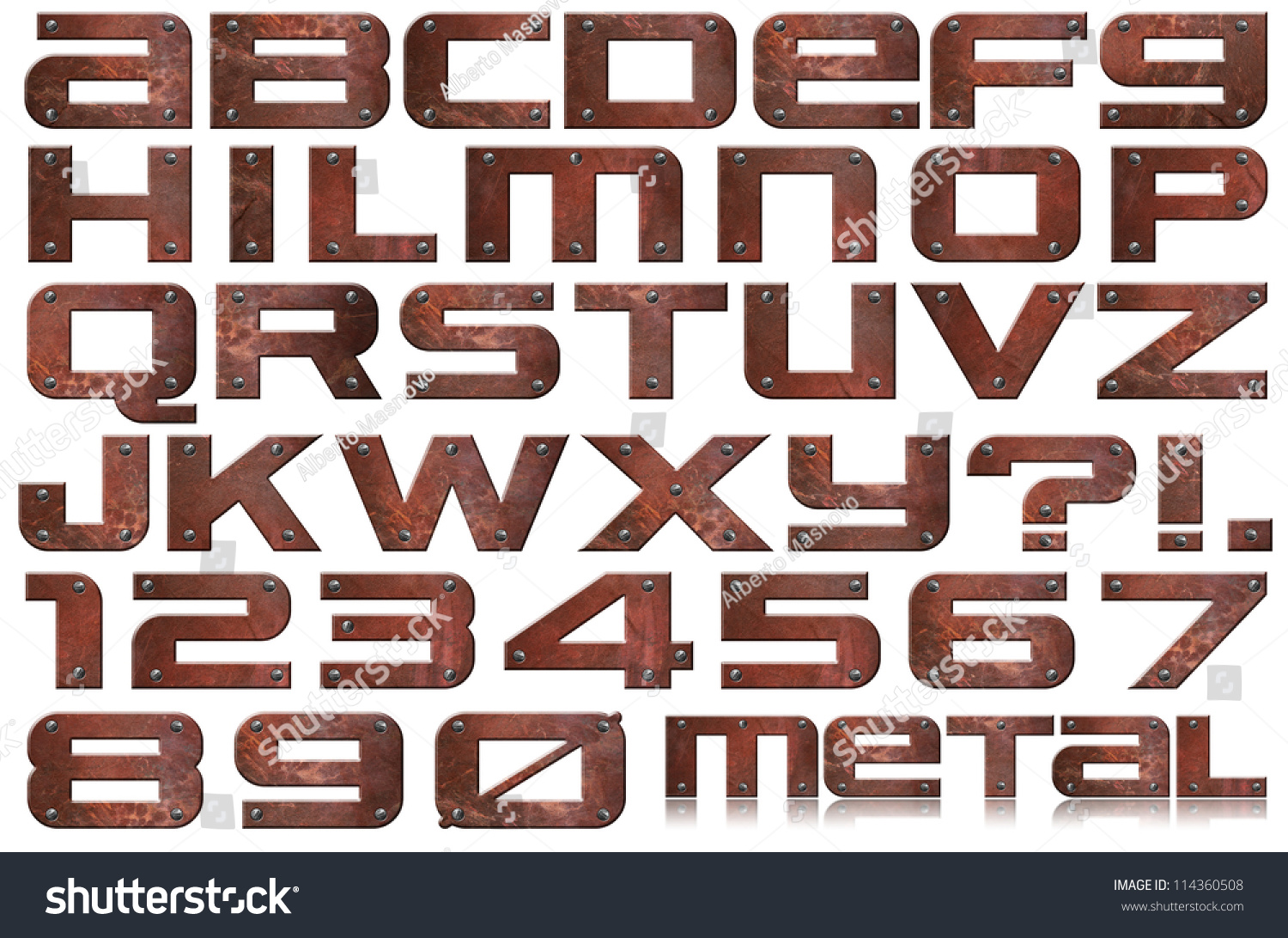 Metal Letters And Numbers Gorgeous Grunge Metal Letters Numbers Brown Grunge Stock Illustration 2018