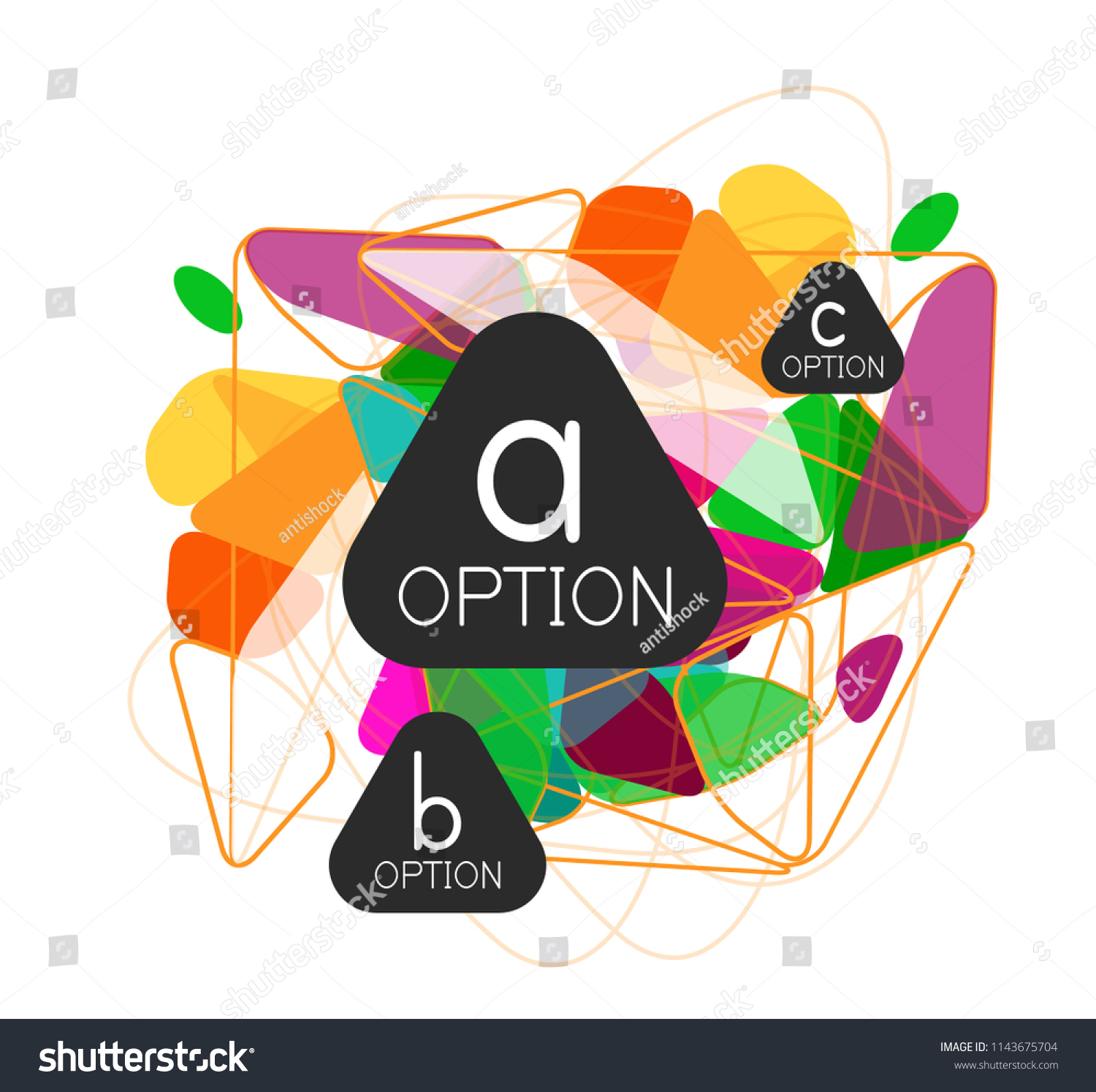 Triangle Infographics Design Layout Trendy Abstract Stock