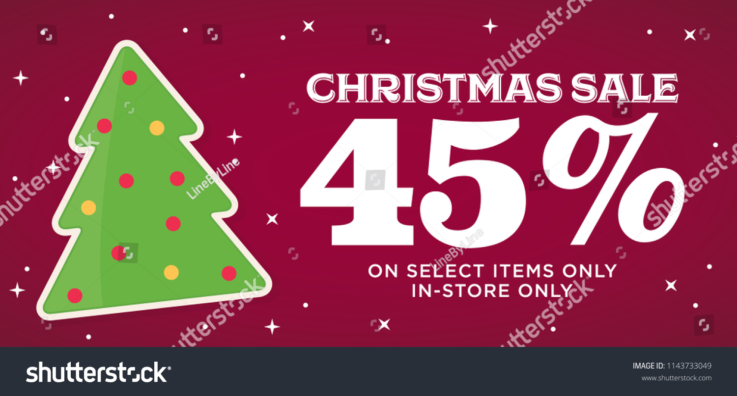 Christmas Sale 45 Off Store Business Stock Vector Royalty Free