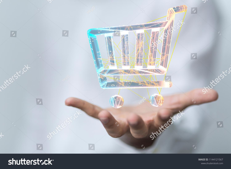 Online Sale Hand 3 D Stock Illustration 1144121567 - Shutterstock