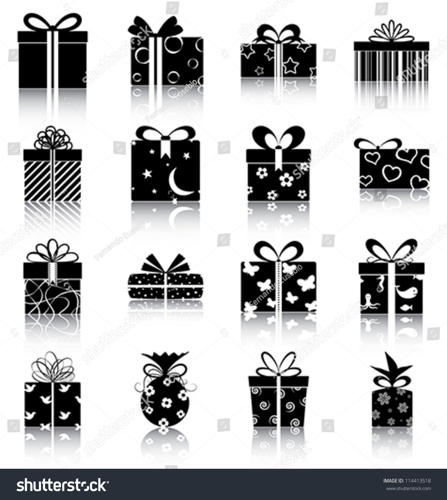 Gift Boxes - 16 Icons ...