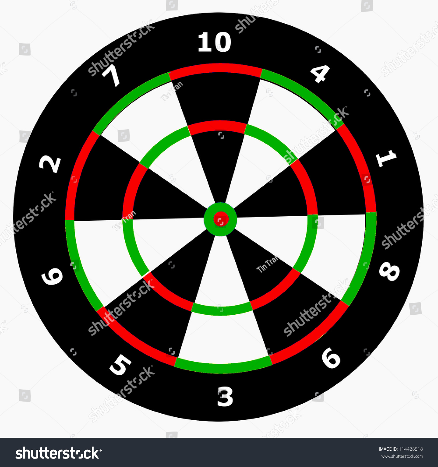 Royalty Free Stock Illustration Of Unique Dart Board Only 10 Points