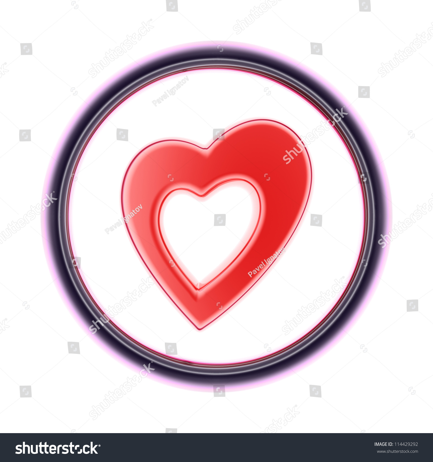 Heart Full Collection Icons Like That Stock Illustration 114429292
