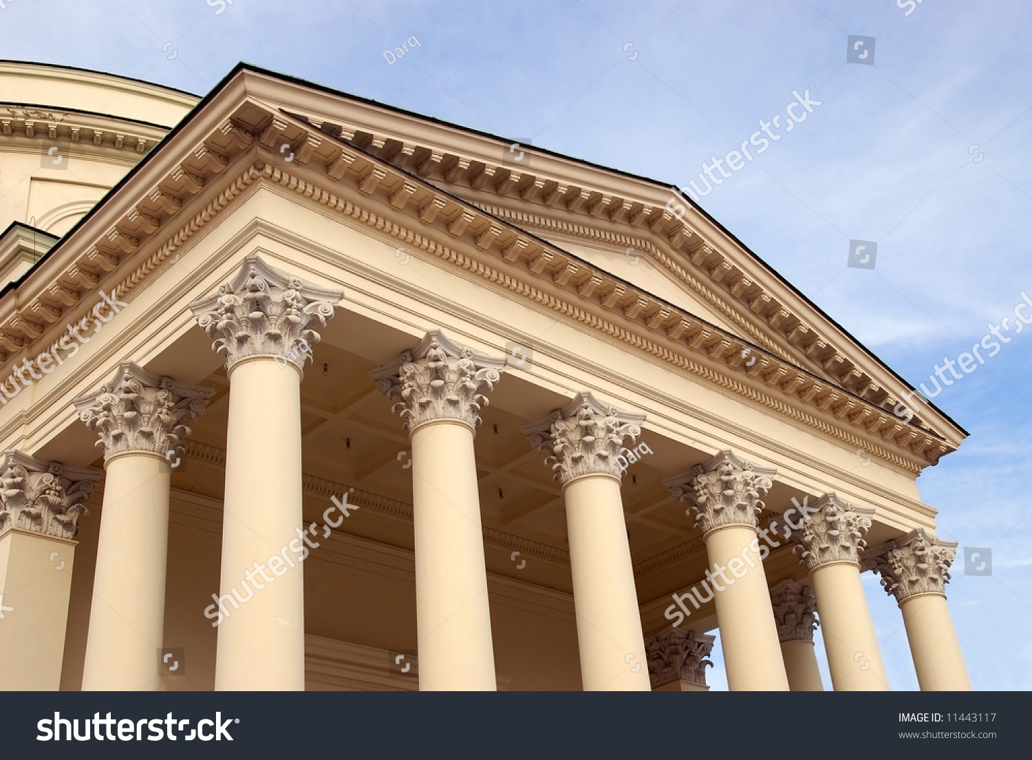 Neoclassical Architecture Style From 1812 Catholic Church In Warsaw Poland