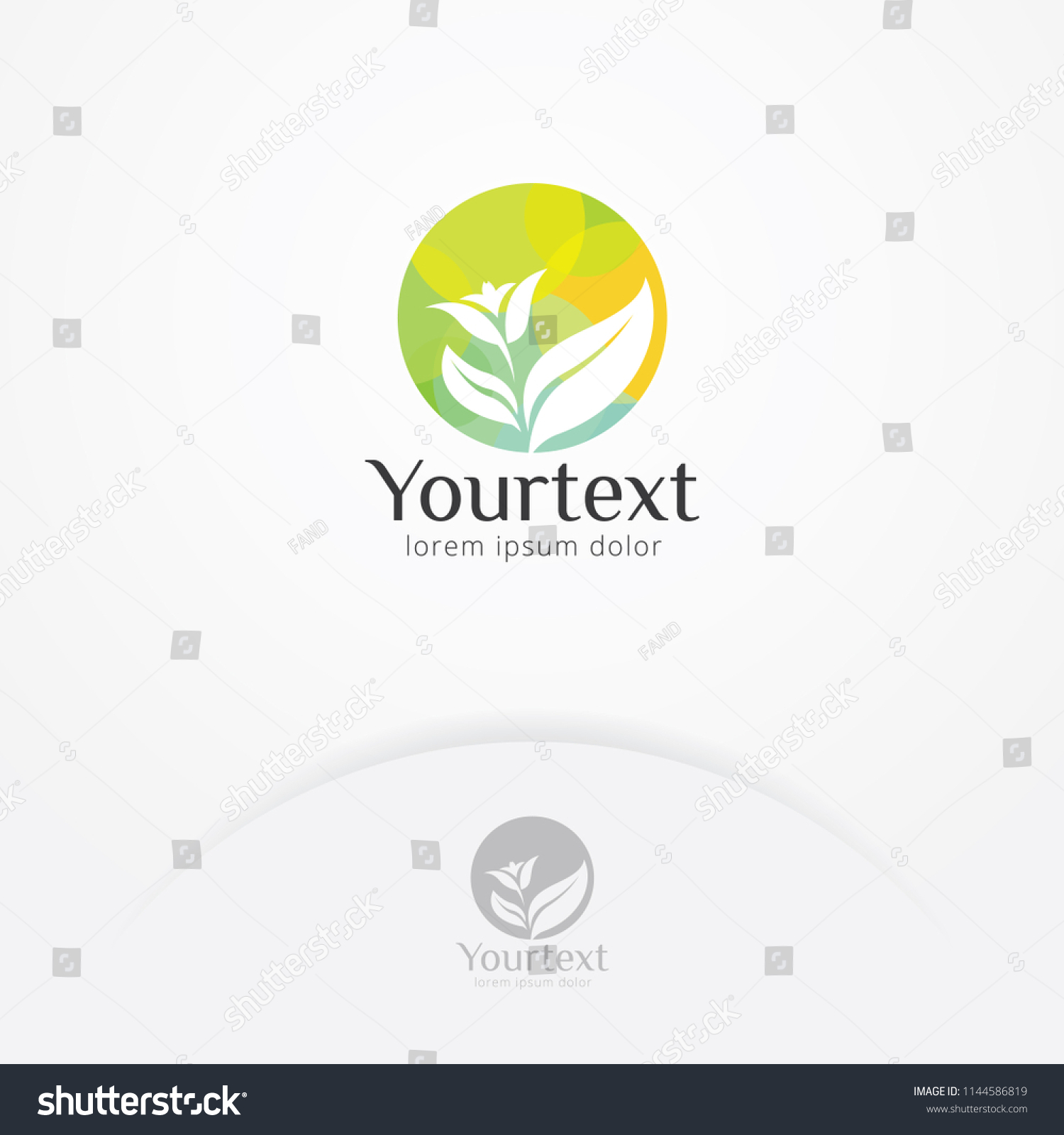 Beauty Nature Care Logo Abstract Silhouette Stock Vector Royalty