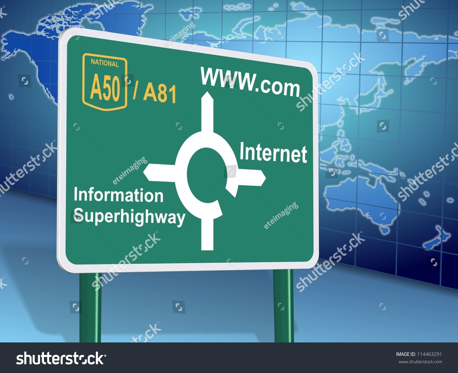 Traffic Sign Showing Different Internet Related Illustration – Map Directions Traffic