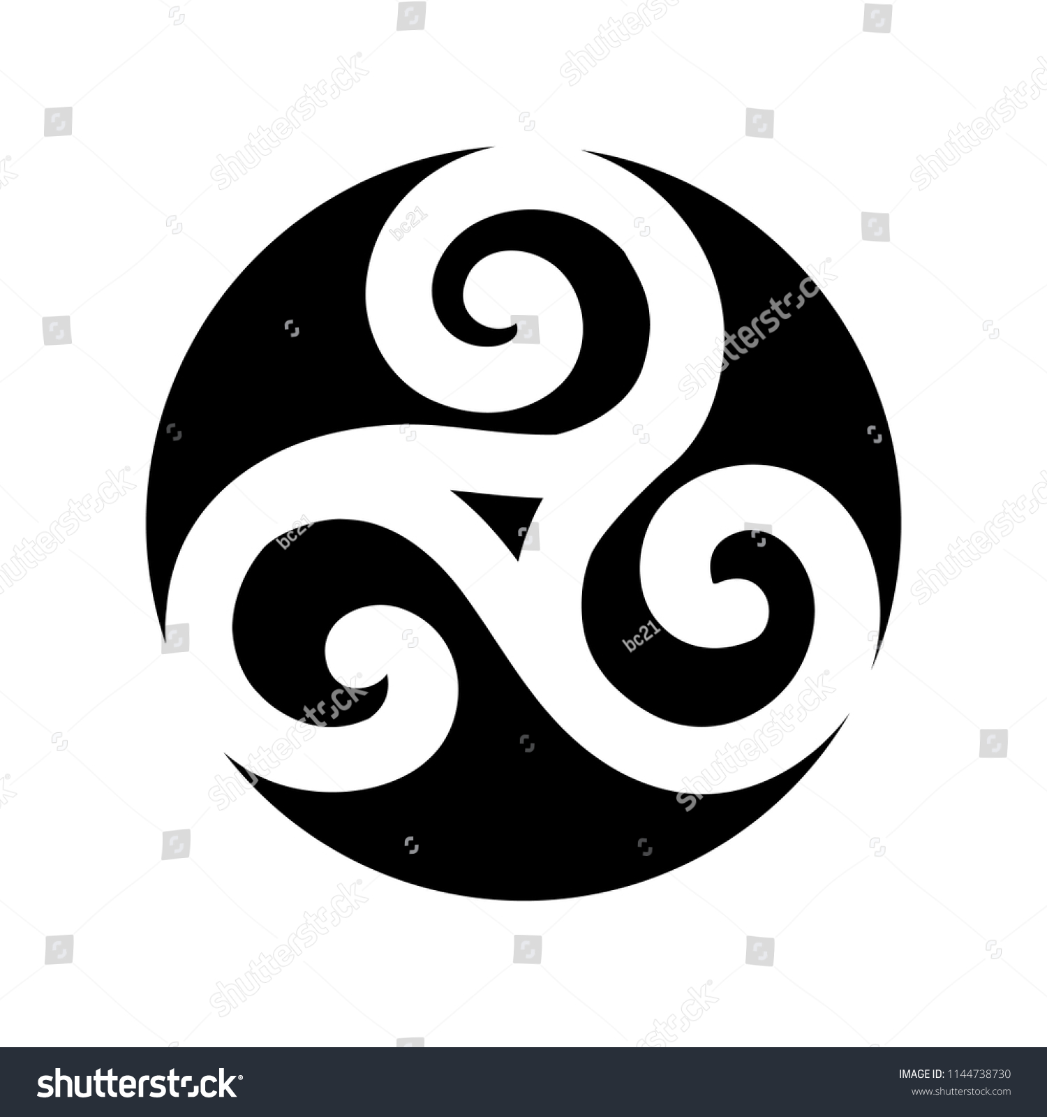 Triple Spiral Ancient Celtic Symbol Stock Vector Royalty Free