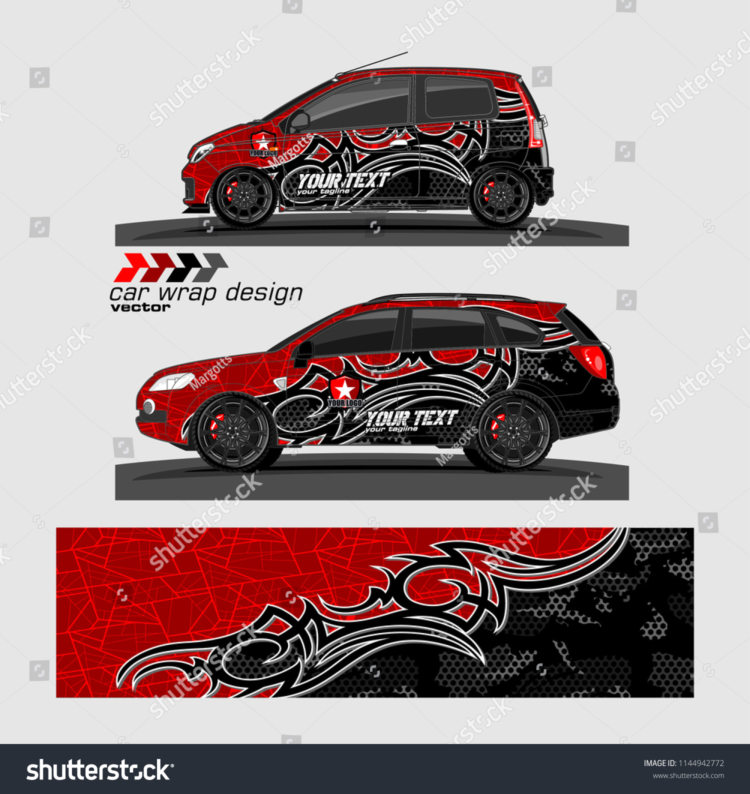 Car wrap designs vector abstract tribal with camouflage for vehicle vinyl sticker