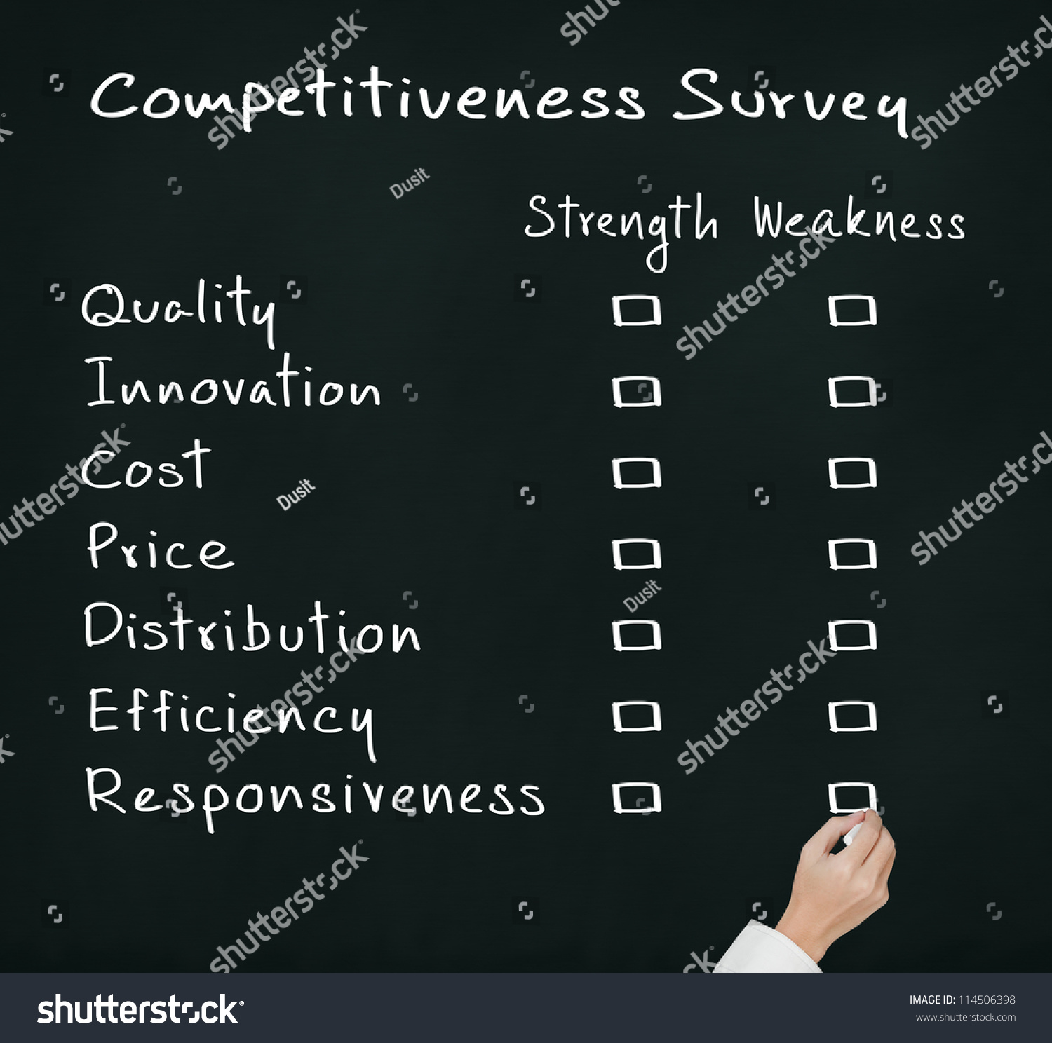 business hand writing competitiveness survey form of business save to a lightbox