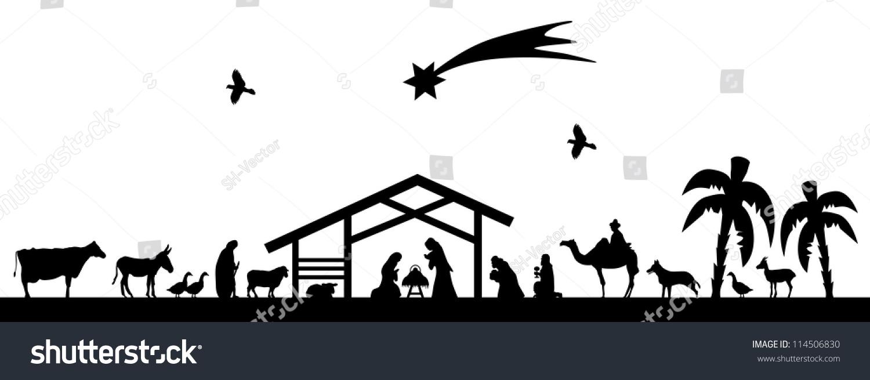 Bethlehem Silhouette Stock-Vektorgrafik (Lizenzfrei) 114506830 ...