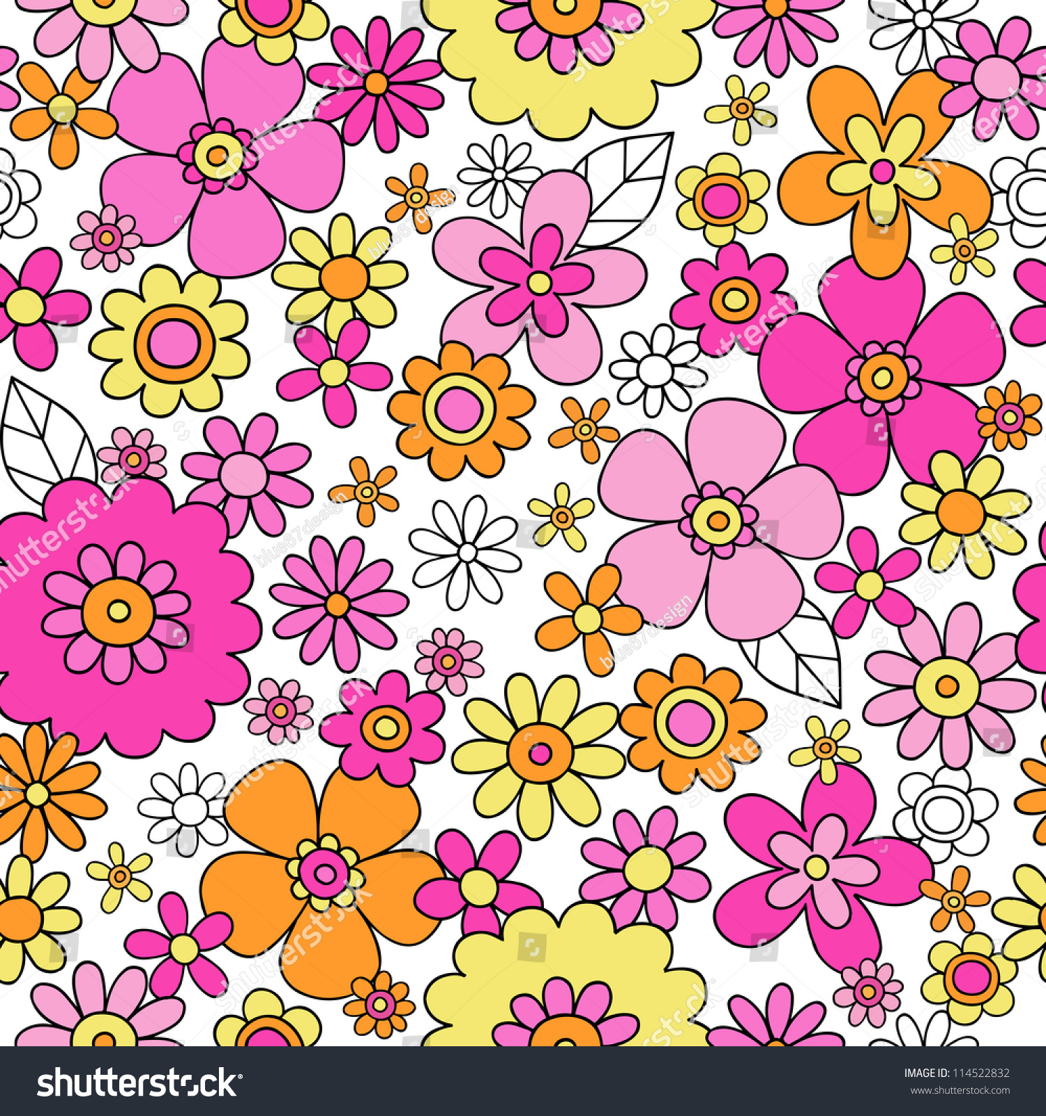 Groovy Flower Backgrounds | Collection 9+ Wallpapers