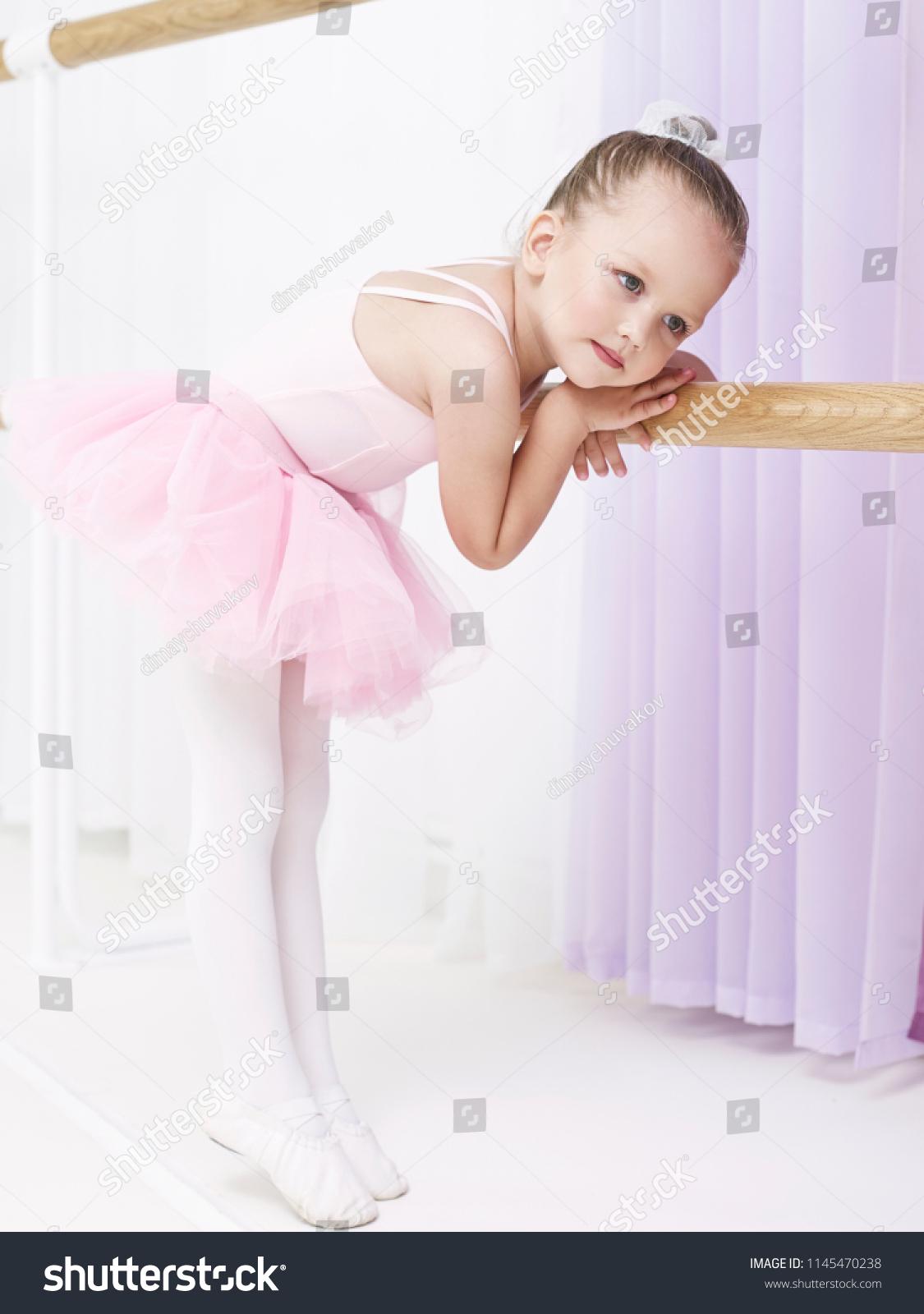 51d0225ef2eb33 Portrait Small Girl Dance Class Stock Photo (Edit Now) 1145470238 ...