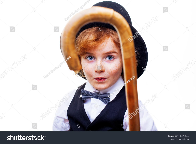 e7d3c32cb99ad Kid Actor Theatre Stylish Boy Hat Stock Photo (Edit Now) 1145593622 ...