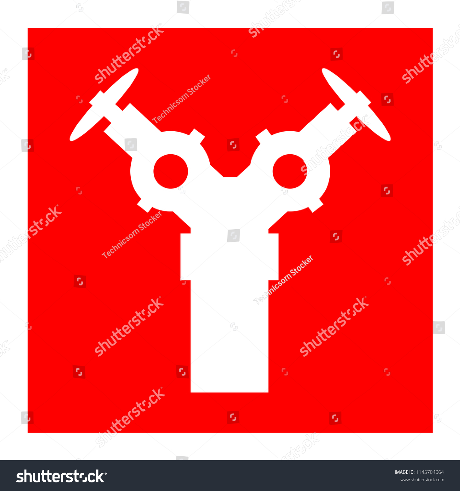 Fire Hydrant Symbol Sign Vector Illustration Isolate Stock Vector
